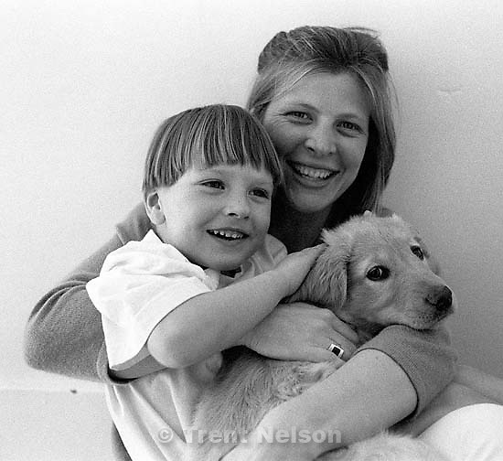 Noah Nelson, Laura Nelson, and Sophie.<br />