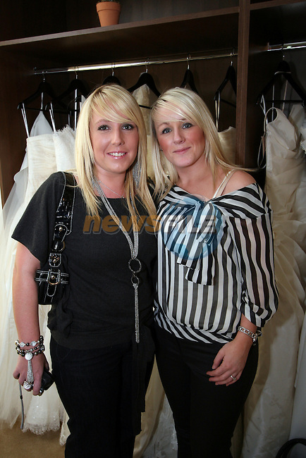 Sam Harmon and Lorna Murray at the Opening of Frilly Frocks Bridal Boutique, Blindgate House...Photo NEWSFILE/Jenny Matthews.(Photo credit should read Jenny Matthews/NEWSFILE)....This Picture has been sent you under the condtions enclosed by:.Newsfile Ltd..The Studio,.Millmount Abbey,.Drogheda,.Co Meath..Ireland..Tel: +353(0)41-9871240.Fax: +353(0)41-9871260.GSM: +353(0)86-2500958.email: pictures@newsfile.ie.www.newsfile.ie.FTP: 193.120.102.198.