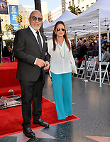 LOS ANGELES, CA. October 10, 2019: Emilio Estefan & Gloria Estefan at the Hollywood Walk of Fame Star Ceremony honoring Tommy Mottola.<br /> Pictures: Paul Smith/Featureflash