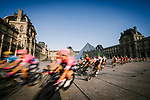 The peloton speed by the Louvre during Stage 21 of the 2019 Tour de France running 128km from Rambouillet to Paris Champs-Elysees, France. 28th July 2019.<br /> Picture: ASO/Pauline Ballet | Cyclefile<br /> All photos usage must carry mandatory copyright credit (© Cyclefile | ASO/Pauline Ballet)