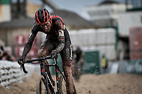 Jens Adams (BEL/Pauwels Sauzen -Bingoal) plowing through the sandbox<br /> <br /> Jaarmarktcross Niel 2019 (BEL)<br /> <br /> ©kramon