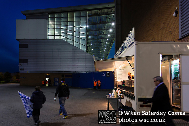 Wigan Athletic 1 Rubin Kazan 1, 24/10/2013. DW Stadium, Europa League Group D. Wigan Athletic embark on their first European campaign having won the FA Cup the previous season. The DW Stadium is temporarily known as The Wigan Athletic Stadium for Europa League fixtures. Burger van outside the DW Stadium. Photo by Paul Thompson.
