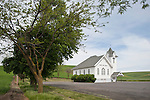 Country Bible Church in the Palouse hills of Washington.