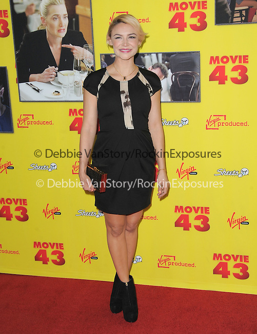 Samaire Armstrong at The RELATIVITY MEDIA Premiere of Movie 43 held at Grauman's Chinese Theater in Hollywood, California on January 23,2013                                                                   Copyright 2013 Hollywood Press Agency