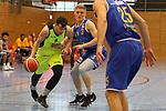 Essens Philipp von Quenaudon (Nr.9)  geht an Schwelms F. Meyer-Tonndorf (Nr.3)  vorbei beim Spiel in der Pro B, ETB Wohnbau Baskets Essen - EN Baskets Schwelm.<br /> <br /> Foto &copy; PIX-Sportfotos *** Foto ist honorarpflichtig! *** Auf Anfrage in hoeherer Qualitaet/Aufloesung. Belegexemplar erbeten. Veroeffentlichung ausschliesslich fuer journalistisch-publizistische Zwecke. For editorial use only.