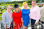 All the way from Cheshire and having a great day out at the Killarney Races were l-r Jeff Pace, Gina Pace, Lisa Brogan and Stephen Broadberry.