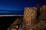 Waymarker at Twilight, Three Rivers Petroglyph Site, New Mexico