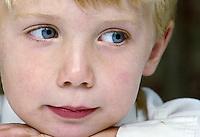 Blue-eyed blonde boy, England