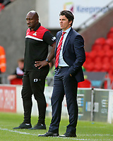 Fleetwood Town manager Joey Barton looks on from the touchline<br /> <br /> Photographer David Shipman/CameraSport<br /> <br /> The EFL Sky Bet League One - Doncaster Rovers v Fleetwood Town - Saturday 17th August 2019  - Keepmoat Stadium - Doncaster<br /> <br /> World Copyright © 2019 CameraSport. All rights reserved. 43 Linden Ave. Countesthorpe. Leicester. England. LE8 5PG - Tel: +44 (0) 116 277 4147 - admin@camerasport.com - www.camerasport.com