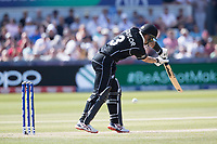 Ross Taylor (New Zealand) edges to third man during England vs New Zealand, ICC World Cup Cricket at The Riverside Ground on 3rd July 2019
