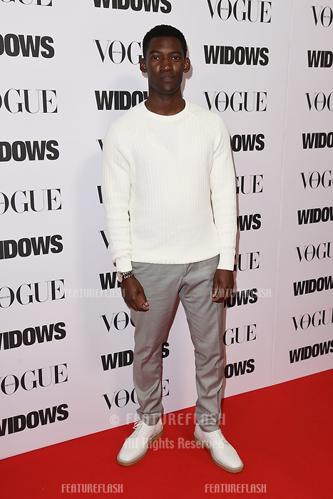 LONDON, UK. October 31, 2018: Malachi Kirby at the &quot;Widows&quot; special screening in association with Vogue at the Tate Modern, London.<br /> Picture: Steve Vas/Featureflash