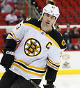 Boston Bruins Zdeno Ghara (33) during a game against the Carolina Hurricanes on January 28, 2013 at PNC Arena in Charlotte, NC. The Bruins beat the Hurricanes 5-3.