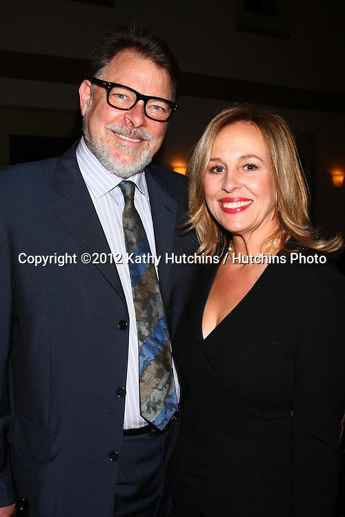 LOS ANGELES - DEC 12:  Jonathan Frakes, Genie Francis arrives at the 14th Annual Women's Image Network Awards at Paramount Theater on December 12, 2012 in Los Angeles, CA