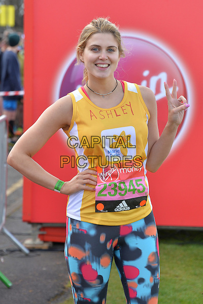LONDON, ENGLAND - APRIL 24   Ashley James at the start of the 2016 Virgin Money London Marathon on Blackheath in London, England. 24th April 2016.<br /> CAP/JWP<br /> &copy;JWP/Capital Pictures