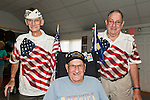 Veterans, including (standing at left) Pearl Harbor survivor Bill Halleran, at Merrick Post #1282 of American Legion barbecue hosted for New York State Veterans from Nursing Home at Stony Brook NY, in Merrick, New York, USA, on August, 13, 2011. Photo © 2011 Ann Parry, All rights reserved. Ann-Parry.com