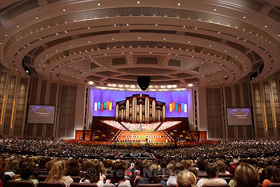 The LDS Church's General Young Women Meeting Saturday evening at the Conference Center, Salt Lake City. 3.25.2006<br />