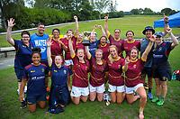 The Southland Women's team on day two of the 2018 Bayleys National Sevens at Rotorua International Stadium in Rotorua, New Zealand on Sunday, 14 January 2018. Photo: Dave Lintott / lintottphoto.co.nz