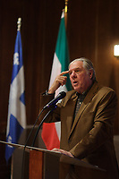 Montreal , CANADA -  Nov 21,  2014 - Pierre Curzi named '' Patriote de l'annee '' by the Societe Saint-Jean-Baptiste du Quebec,<br /> <br /> Photo :  Agence Quebec Presse - Pierre Roussel