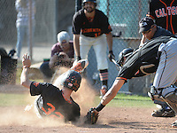 (Photo by John Valenzuela, Freelance)<br /> <br /> #32 Riley James. The Occidental College baseball team defeats Caltech to claim the SCIAC Championships on Sunday, May 1, 2016 at Oxy's Anderson Field.<br /> <br /> (Photo by John Valenzuela, Freelance)