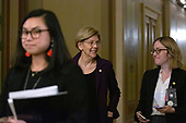 United States Senator Elizabeth Warren (Democrat of Massachusetts) departs the United States Capitol after the conclusion of day six in the impeachment trial of United States President Donald J. Trump in Washington D.C., U.S., on Monday, January 27, 2020.<br />  <br /> Credit: Stefani Reynolds / CNP