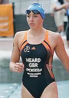 30 JUL 2006 - SALFORD, UK - Anneliese Heard walks to the start at the Salford ITU World Cup triathlon round. (PHOTO (C) NIGEL FARROW)
