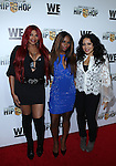 Sandra 'Pepa' Denton Egypt Criss and Cheryl 'Salt' James at WE TV's Growing Up Hip Hop Premiere Party Held at Haus