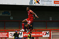 Bez Lubala of Crawley Rown celebrates his goal in the first half from a penalty during Crawley Town vs Morecambe, Sky Bet EFL League 2 Football at Broadfield Stadium on 16th November 2019