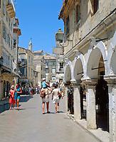 Greece, Corfu, Corfu-Town (Kerkyra): Lane at Old Town | Griechenland, Korfu, Korfu-Stadt (Kerkyra): Altstadtgasse