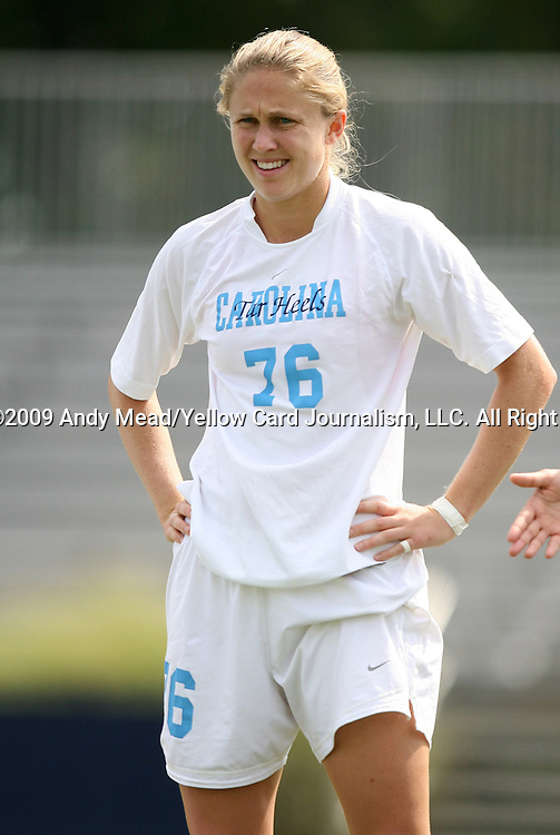 20 September 2009: North Carolina's Ali Hawkins. The University of North Carolina Tar Heels played the Auburn University Tigers to a 0-0 tie after overtime at Koskinen Stadium in Durham, North Carolina in an NCAA Division I Women's college soccer game.