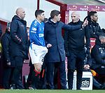 15.12.2019 Motherwell v Rangers: Matt Polster comes on