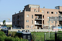 Roma, 7 Settembre 2018<br /> Via Raffaele Costi, Tor Cervara<br /> Polizia, Polizia Locale, e carabinieri sgomberano il palazzo occupato dove da anni abitavano famiglie italiane, romene e africane