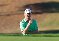 Michael Hoey (NIR) in a bunker at the 7th green during Thursday's Round 1 of the 2016 Portugal Masters held at the Oceanico Victoria Golf Course, Vilamoura, Algarve, Portugal. 19th October 2016.<br /> Picture: Eoin Clarke | Golffile<br /> <br /> <br /> All photos usage must carry mandatory copyright credit (&copy; Golffile | Eoin Clarke)