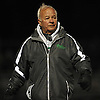 Bob Hartranft, head coach of the Farmingdale varsity boys lacrosse team, paces the sideline during a game against Carey at Farmingdale High School on Friday, Apr. 8, 2016.