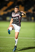 29th September 2017, Sixways Stadium, Worcester, England; Aviva Premiership Rugby, Worcester Warriors versus Saracens; Alex Lozowski of Saracens warms-up prior to the match