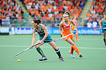 The Hague, Netherlands, June 14: Madonna Blyth #12 of Australia looks to pass during the field hockey gold medal match (Women) between Australia and The Netherlands on June 14, 2014 during the World Cup 2014 at Kyocera Stadium in The Hague, Netherlands. Final score 2-0 (2-0)  (Photo by Dirk Markgraf / www.265-images.com) *** Local caption *** Madonna Blyth #12 of Australia, Eva de Goede #24 of The Netherlands