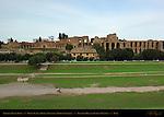 Imperial Palaces Domus Flavia Domus Augustana Domus Severiana Palatine Hill from Circus Maximus Rome