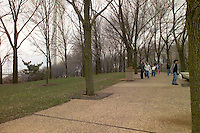 People Strolling at the Saint Louis Gateway Riverside Park