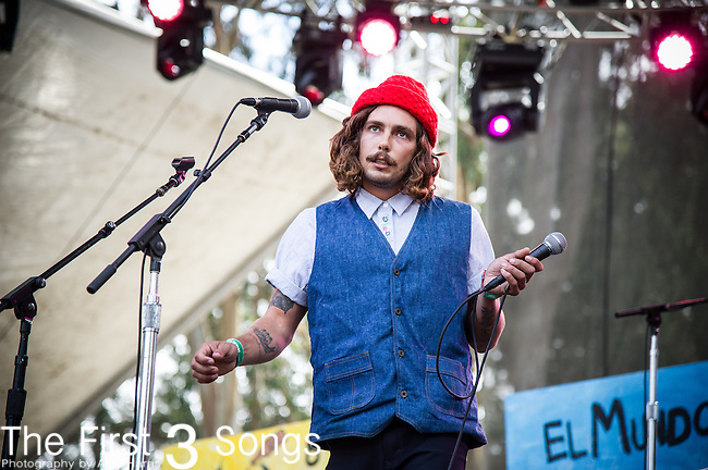 Brooks Nielsen of The Growlers performs at the Outside Lands Music & Art Festival at Golden Gate Park in San Francisco, California.