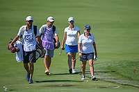 Cristie Kerr (USA) and Karine Icher (FRA) approach the green on 7 during round 2 of the 2018 KPMG Women's PGA Championship, Kemper Lakes Golf Club, at Kildeer, Illinois, USA. 6/29/2018.<br /> Picture: Golffile | Ken Murray<br /> <br /> All photo usage must carry mandatory copyright credit (© Golffile | Ken Murray)