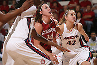 STANFORD, CA - JANUARY 30:  Kayla Pedersen of the Stanford Cardinal during Stanford's 83-62 win over Arizona on January 30, 2010 at Maples Pavilion in Stanford, California.