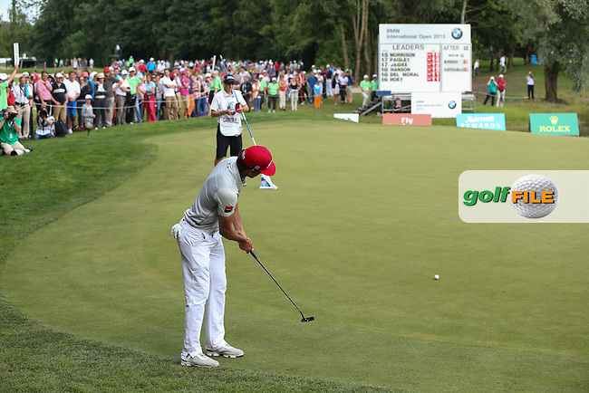 Putting from the back of the 16th is Rafa Cabrera-Bello (ESP) during Round Three of the 2015 BMW International Open at Golfclub Munchen Eichenried, Eichenried, Munich, Germany. 27/06/2015. Picture David Lloyd   www.golffile.ie