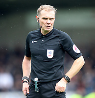 Referee Graham Scott<br /> <br /> Photographer Mick Walker/CameraSport<br /> <br /> The EFL Sky Bet Championship - Burton Albion v Bolton Wanderers - Saturday 28th April 2018 - Pirelli Stadium - Burton upon Trent<br /> <br /> World Copyright &copy; 2018 CameraSport. All rights reserved. 43 Linden Ave. Countesthorpe. Leicester. England. LE8 5PG - Tel: +44 (0) 116 277 4147 - admin@camerasport.com - www.camerasport.com