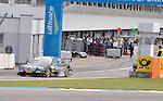 DTM-Auftakt 2009, 100. Rennen der Deutschen Tourenwagen Masters in Hockenheim -Ralf Schumacher (D), Trilux AMG Mercedes Mercedes-Benz, Trilux AMG Mercedes C-Klasse (2009) kommt nach dem Unfall wieder aus der Boxengasse gefahren                                                                                            Foto © nph (  nordphoto  )