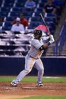 Lakeland Flying Tigers left fielder Christin Stewart (20) at bat during a game against the Tampa Yankees on April 8, 2016 at George M. Steinbrenner Field in Tampa, Florida.  Tampa defeated Lakeland 7-1.  (Mike Janes/Four Seam Images)