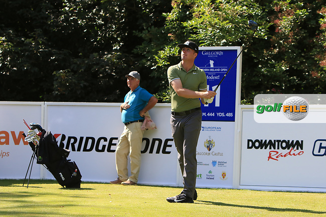Thomas Mulligan (AM)(IRL) on the 11th tee during Round 1 of the Northern Ireland Open at Galgorm Castle Golf Club, Ballymena Co. Antrim. 10/08/2017<br /> Picture: Golffile | Thos Caffrey<br /> <br /> <br /> All photo usage must carry mandatory copyright credit     (&copy; Golffile | Thos Caffrey)