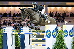 Reed Kessler of the USA riding Tradition de la Roque competes in the Hong Kong Jockey Club Trophy during the Longines Masters of Hong Kong at the Asia World Expo on 09 February 2018, in Hong Kong, Hong Kong. Photo by Ian Walton / Power Sport Images