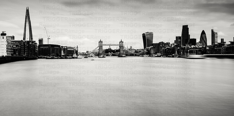 River Thames view, Bermondsey, London, UK