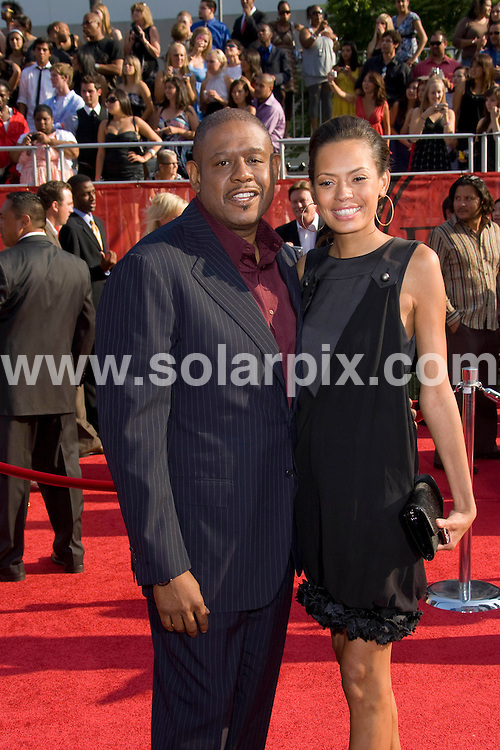 **ALL ROUND PICTURES FROM SOLARPIX.COM**.**SYNDICATION RIGHTS FOR UK, SPAIN, PORTUGAL, AUSTRALIA, S.AFRICA & DUBAI (U.A.E) ONLY**.David Beckham and Victoria Beckham attends the 16th Annual ESPY at the Nokia Theatre in Los Angeles, California in the USA. .This pic:Forest,Whitaker,Keisha..JOB REF:6850- PHZ/Chris Hatcher    DATE:16_07_08 .**MUST CREDIT SOLARPIX.COM OR DOUBLE FEE WILL BE CHARGED* *UNDER NO CIRCUMSTANCES IS THIS IMAGE TO BE REPRODUCED FOR ANY ONLINE EDITION WITHOUT PRIOR PERMISSION*