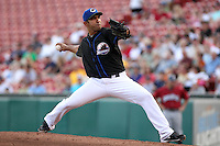 Buffalo Bisons pitcher Fernando Nieve delivers a pitch during a game vs. the Lehigh Valley IronPigs at Coca-Cola Field in Buffalo, New York;  August 1, 2010.  Buffalo defeated Lehigh Valley 2-1 in 10 innings.  Photo By Mike Janes/Four Seam Images