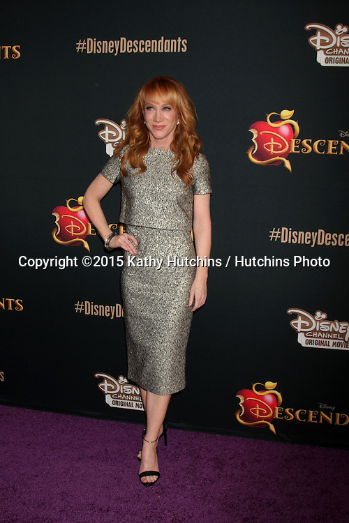 "LOS ANGELES - JUL 24:  Kathy Griffin at the ""Descendants"" Premiere Screening at the Walt Disney Studios on July 24, 2015 in Burbank, CA"